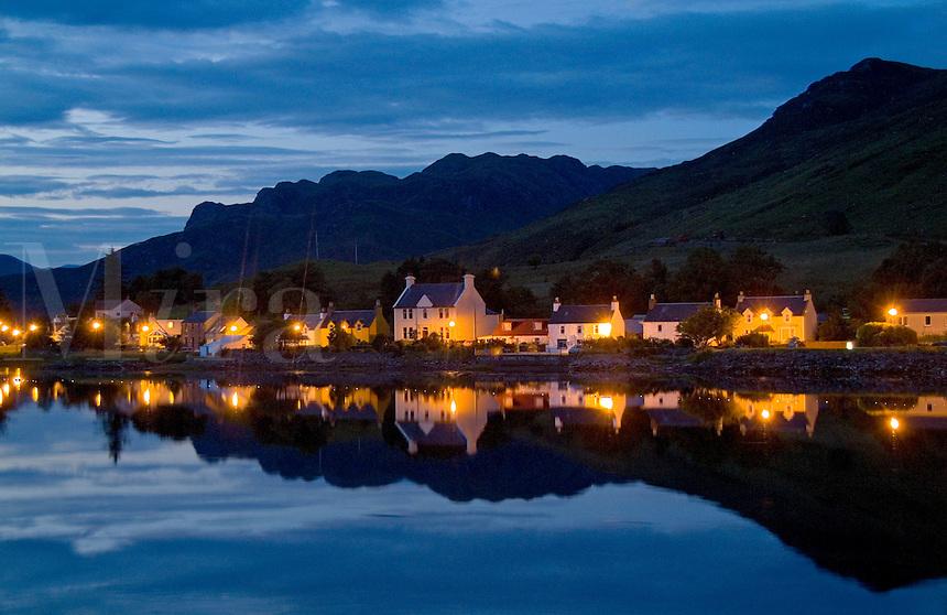 Small village of Dornie, Western Highlands,  Scotlands