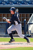 Tampa Bay Rays minor league first baseman Jeff Malm during an Instructional League game vs. the Minnesota Twins at Charlotte Sports Park in Port Charlotte, Florida;  October 5, 2010.  Photo By Mike Janes/Four Seam Images