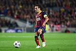 UEFA Champions League 2013/2014.<br /> Quarter-finals 1st leg.<br /> FC Barcelona vs Club Atletico de Madrid: 1-1.<br /> Xavi Hernandez.