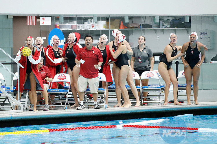 INDIANAPOLIS, IN - MAY 14: Stanford University celebrates during the Division I Women's Water Polo Championship against UCLA held at the IU Natatorium-IUPUI Campus on May 14, 2017 in Indianapolis, Indiana. (Photo by Joe Robbins/NCAA Photos/NCAA Photos via Getty Images)