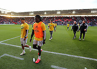 Pictured L-R: Kyle Naughton, Bafetimbi Gomis and Nelson Oliveira Sunday 01 February 2015<br /> Re: Premier League Southampton v Swansea City FC at ST Mary's Ground, Southampton, UK.