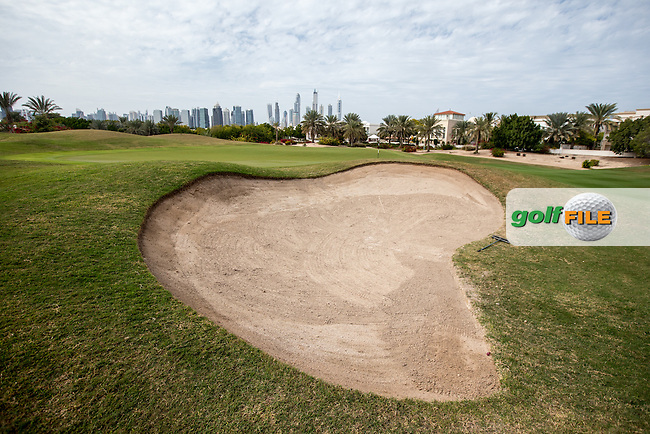 8th green at The Address Montgomerie Golf Club, Dubai, United Arab Emirates.  27/01/2016. Picture: Golffile | David Lloyd<br /> <br /> All photos usage must carry mandatory copyright credit (&copy; Golffile | David Lloyd)