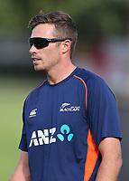 New Zealand's Tim Southee. New Zealand Blackcaps v England. Tri-Series International Twenty20 cricket. Seddon Park, Hamilton, New Zealand on Sunday 18 February 2018.<br /> <br /> Copyright photo: &copy; Bruce Lim / www.photosport.nz