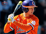 Shortstop Tyler Krieger (3) of the Clemson Tigers in the Reedy River Rivalry game against the South Carolina Gamecocks on March 1, 2014, at Fluor Field at the West End in Greenville, South Carolina. South Carolina won, 10-2.
