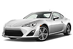 Low aggressive front three quarter view of a 2013 Scion FRS