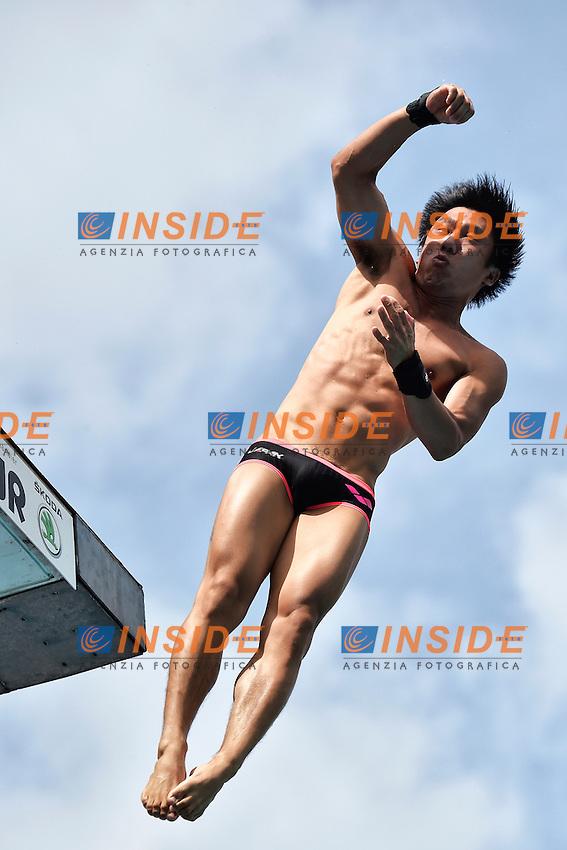 OKAMOTO Ju JPN <br /> Platform 10m Men - Piattaforma 10m Uomini Preliminare<br /> Bolzano 02-08-2014 <br /> 20 Fina Diving Grand Prix <br /> Photo Andrea Staccioli/Insidefoto