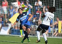 Kansas City, MO - Saturday July 16, 2016: Brittany Taylor, Francisca Ordega during a regular season National Women's Soccer League (NWSL) match between FC Kansas City and the Washington Spirit at Swope Soccer Village.