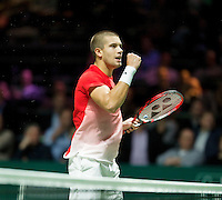 Rotterdam, The Netherlands, Februari 8, 2016,  ABNAMROWTT, Borna Coric (CRO)<br /> Photo: Tennisimages/Henk Koster