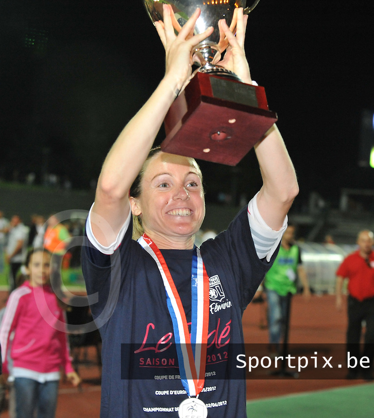 Football Club Feminin Juvisy Essonne - Olympique Lyon :.Sonia Bompastor.foto DAVID CATRY / JOKE VUYLSTEKE / Vrouwenteam.be