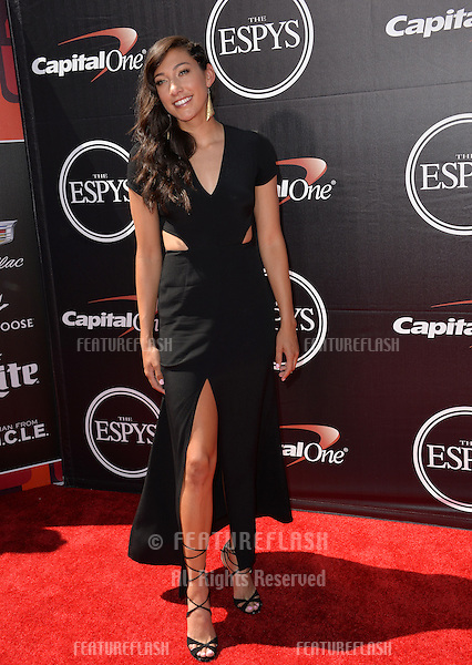 US women's soccer star Christen Press at the 2015 ESPY Awards at the Microsoft Theatre LA Live.<br /> July 15, 2015  Los Angeles, CA<br /> Picture: Paul Smith / Featureflash