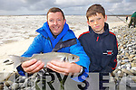 Fishermen Martin McGowan from Ardfert and Jordan O'Rourke from Ballybunnion who took part in a special fishing competition last Saturday as part Ballybunnion's first Sea Food Festival.
