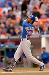 13 May 2005: Corey Patterson, center fielder for the Chicago Cubs, at bat against the Washington Nationals where the visiting Cubs defeated the Nationals 6-3 to take the first game of the 3-game series at RFK Stadium in Washington, DC. Mandatory Photo Credit: Ed Wolfstein
