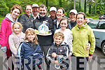 Pictured with comedian Tommy Tiernan, who was celebrated his 43rd birthday on Saturday with a climb of Torc Mountain, Killarney in aid of the Kerry Cork cancer link bus, pictured with Lauren, Peig and Gery O'Sullivan, Jackie O'Sullivan, Norma Foley, Elaine Doyle, Lily Foley, Paddy Foley, Jean Foley, Aisling Donnelly and Emma Goulding.........................................................................