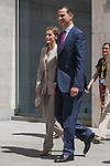 Spanish Royals Prince Felipe of Spain and Princess Letizia of Spain attend an exhibition inauguration at Archeological Museum in Madrid, Spain. June 12, 2013. (ALTERPHOTOS/Victor Blanco)