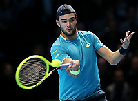 Great Britain, London, O2 Arena -  Nitto ATP Finals 2019 - DAY 3 - 12/11/2019<br /> <br /> Italian player Matteo Berrettini (ITA)  <br /> London 12/11/2019 O2 Arena <br /> Nitto ATP Finals 2019 <br /> Photo Melanie Jeusette Photonews / Panoramic / Insidefoto <br /> ITALY ONLY