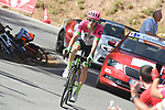 Pierre Rolland (FRA) EF-Drapac-Cannondale climbs Sierra de la Alfaguara during Stage 4 of the La Vuelta 2018, running 162km from Velez-Malaga to Alfacar, Sierra de la Alfaguara, Andalucia, Spain. 28th August 2018.<br /> Picture: Colin Flockton   Cyclefile<br /> <br /> <br /> All photos usage must carry mandatory copyright credit (&copy; Cyclefile   Colin Flockton)