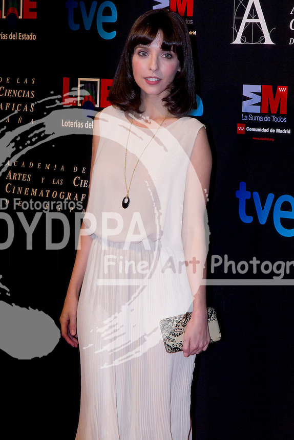 28/01/2012. Real Casa de Correos. Madrid. Spain. Goya Awards Nominated Gala 2012. Leticia Dolera