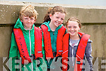 Eoin Lyon, Siobhan Ni Laighin and Maria Nix at the Maherees Regatta on Sunday
