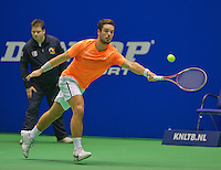 Rotterdam, Netherlands, December 19, 2015,  Topsport Centrum, Lotto NK Tennis,  Tim van Terheijden (NED)<br /> Photo: Tennisimages/Henk Koster