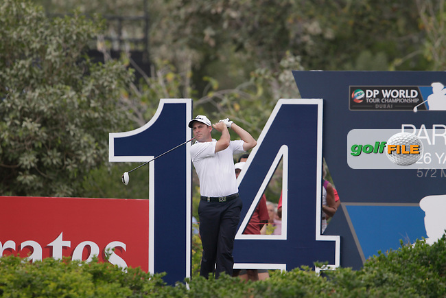 David HOWELL (ENG) during round 4 of the DP World, Tour Championship, Dubai, UAE.<br /> Picture: Fran Caffrey www.golffile.ie