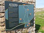 Information sign for Acinipo Roman archaeological site, Ronda la Vieja, Cadiz province, Spain