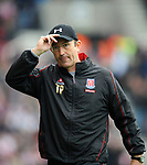 Stoke City manager Tony Pulis during the Championship League match at The Britannia Stadium, Stoke. Picture date 4th May 2008. Picture credit should read: Simon Bellis/Sportimage