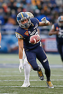 Annapolis, MD - December 28, 2015:   Navy Midshipmen running back Dishan Romine (28) drops the pass during the Military Bowl game between Pitt vs Navy at Navy-Marine Corps Memorial Stadium in Annapolis, MD. (Photo by Elliott Brown/Media Images International)