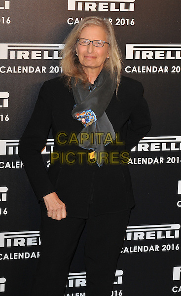 Annie Leibovitz attends the 2016 Pirelli Calendar news conference &amp; photocall, Grosvenor House Hotel, Park Lane, London, UK, on Monday 30 November 2015.<br /> CAP/CAN<br /> &copy;CAN/Capital Pictures