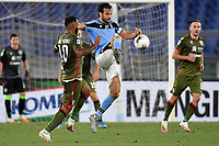 Joao Pedro of Cagliari and Marco Parolo of SS Lazio compete for the ball during the Serie A football match between SS Lazio and Cagliari Calcio at Olimpico stadium in Rome ( Italy ), July 23th, 2020. Play resumes behind closed doors following the outbreak of the coronavirus disease. Photo Andrea Staccioli / Insidefoto