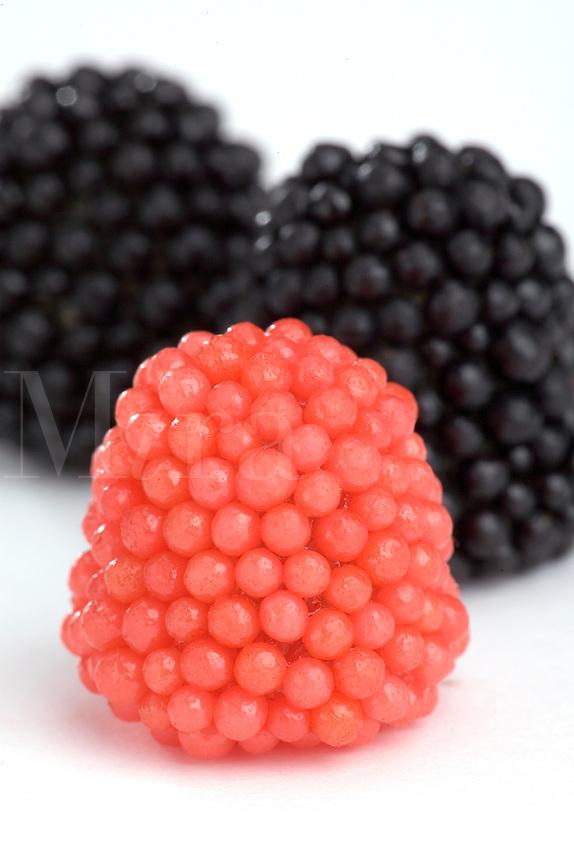 Red and Black Gummi Raspberrie