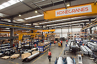 KoneCranes Heavy Duty Cranes factory in Shanghai, China, on May 25, 2010. Photo by Lucas Schifres/Pictobank