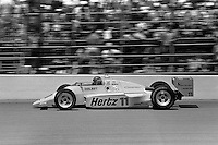 INDIANAPOLIS, IN - MAY 31: Al Unser drives his Penske PC15 001/Chevrolet during the Indianapolis 500 USAC Indy Car race at the Indianapolis Motor Speedway in Indianapolis, Indiana, on May 31, 1986.