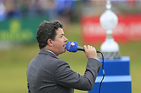 Shane O'Donoghue at the prize giving ceremony at the end of Sunday's Final Round of the Dubai Duty Free Irish Open 2019, held at Lahinch Golf Club, Lahinch, Ireland. 7th July 2019.<br /> Picture: Eoin Clarke | Golffile<br /> <br /> <br /> All photos usage must carry mandatory copyright credit (© Golffile | Eoin Clarke)