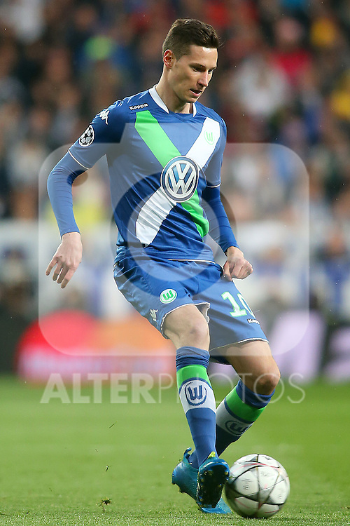 WfL Wolfsburg's Julian Draxler during Champions League 2015/2016 Quarter-finals 2nd leg match. April 12,2016. (ALTERPHOTOS/Acero)