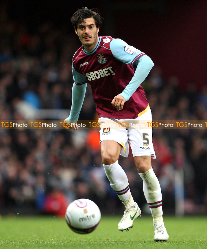 James Tomkins of West Ham - West Ham United vs Birmingham City, npower Championship at Upton Park, West Ham - 09/04/12 - MANDATORY CREDIT: Rob Newell/TGSPHOTO - Self billing applies where appropriate - 0845 094 6026 - contact@tgsphoto.co.uk - NO UNPAID USE..