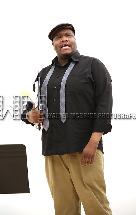 "Juson Williams  During the Open Rehearsal for the Miami New Drama's World Premiere Musical  ""A Wonderful World"" at the Ripley-Grier Studios on January 26, 2020 in New York City."