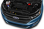 Car stock 2017 Ford Edge Sport 5 Door SUV engine high angle detail view