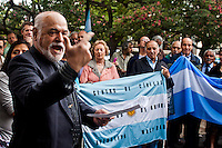 People attend a rally during a commemoration of the Malvinas veteran day in Buenos Aires April 2, 2013. Photo by Juan Gabriel Lopera / VIEWpress.