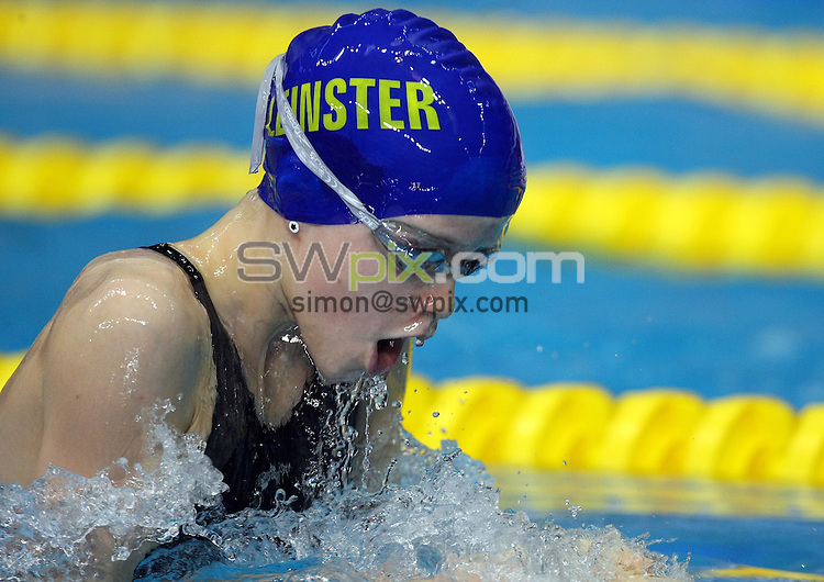 PICTURE BY VAUGHN RIDLEY/SWPIX.COM - Swimming - ASA National Age Group Championships 2010 - Ponds Forge, Sheffield, England - 31/07/10...Copyright - Simon Wilkinson - 07811267706...Lydia Kehoe competes in the Girls 11yrs 100m Breaststroke Final.