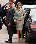 Princess Letizia of Spain during a military parade marking the Armed Forces Day on June 2, 2012 in Valladolid.(ALTERPHOTOS/Acero)