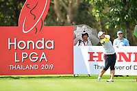 PATTAYA, THAILAND - FEBRUARY 22: Amy Yang USA on the 9th tee during the second round of the Honda LPGA Thailand 2019 at Siam Country Club Pattaya (Old Course), Pattaya, Thailand on February 22, 2019.<br /> .<br /> .<br /> .<br /> (Photo by: Naratip Golf Srisupab/SEALs Sports Images)<br /> .<br /> Any image use must include a mandatory credit line adjacent to the content which should read: Naratip Golf Srisupab/SEALs Sports Images