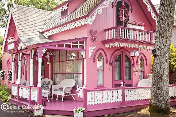 Victorian cottages on Marthas Vineyard, Cape Cod, MA, USA