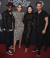 "NORTH HOLLYWOOD, CA - MAY 1:  Ne-Yo, Jennifer Lopez, Jenna Dewan and Derek Hough at NBC's ""World of Dance"" FYC Event at the Saban Media Center at The Television Academy on May 1, 2018 in North Hollywood, California. (Photo by Scott KirklandPictureGroup)"