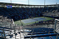 NEW YORK, NY AUG 27: A general view of the new Grandstand stadium is seen during a day of practice at the USTA Billie Jean King National Tennis Center in Flushing Meadows, on August 27, 2016 in New York City. (Photo by VIEWpress)