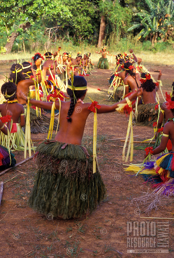 Dancers of Ma village performing, Yap Micronesia