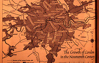 London: Historical--Map of growth of London through 19th century. Hibbert, LONDON, p. 238.   Reference only.