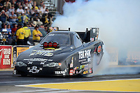 Sept. 28, 2012; Madison, IL, USA: NHRA funny car driver Dale Creasy Jr during qualifying for the Midwest Nationals at Gateway Motorsports Park. Mandatory Credit: Mark J. Rebilas-