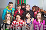 """Students from Mercy Mounthawk who put on their christmas concert the """"M FActor blast from the past"""" on Thursday. front from left Rebecca Harris, Peter Karim, Jodie Fitzgerald and Amy Lynch. Back row Skirmas Lelus, David Byrne, Kevin McCarthy, Thomas O'Carroll and Ololade Osinubi."""
