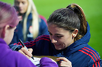 20191027 - Boreham Wood: Danielle Van De Donk is pictured during the signing session after the Barclays FA Women's Super League match between Arsenal Women and Manchester City Women on October 27, 2019 at Boreham Wood FC, England. PHOTO:  SPORTPIX.BE | SEVIL OKTEM