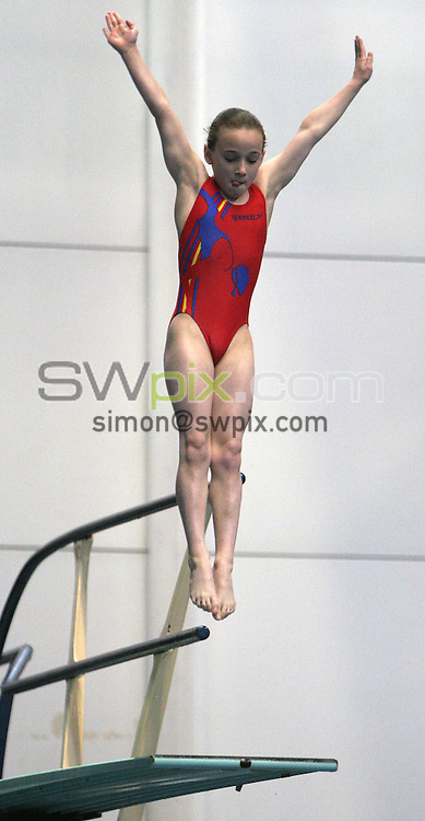 PICTURE BY VAUGHN RIDLEY/SWPIX.COM -  Swimming - ASA Elite Junior Diving Nationals - Ponds Forge - Sheffield, England - 30/05/06...? Simon Wilkinson - 07811 267706...Joanna Matthews of Luton Kingfishers DC.